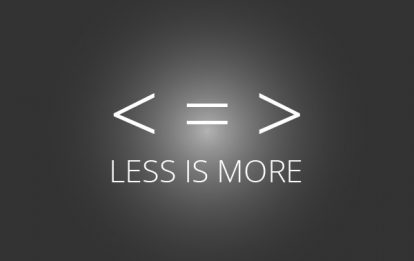 Over and Over Again… Less isMore